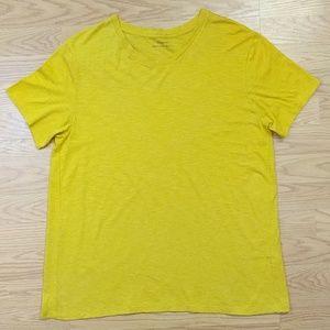 [Vince] Pima Cotton Mustard Yellow Short Sleeve T